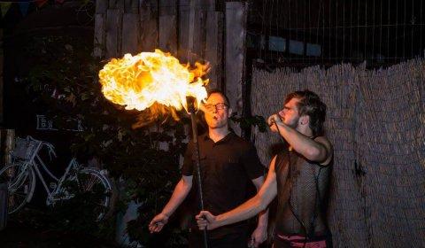 Feuershow Publikum