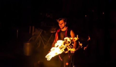 Feuershow Leipzig