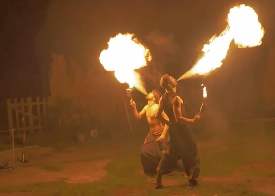 Große Hochzeitsfeuershow mit FireX